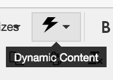 Preformatted Content button